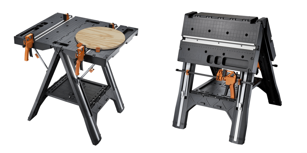 A Portable Work Table & Sawhorse in One